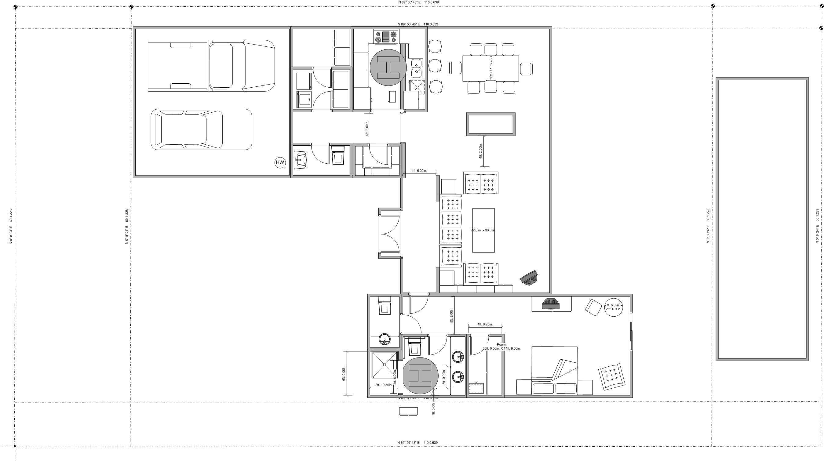 000205 on Two Bedroom Plan Design
